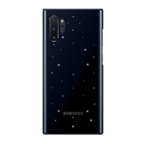Чехол (клип-кейс) SAMSUNG LED Cover, для Samsung Galaxy Note 10+, черный [ef-kn975cbegru]