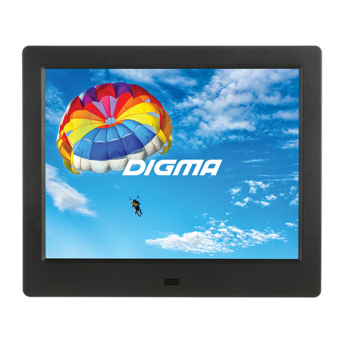 Фото - Цифровая фоторамка DIGMA PF-843 IPS, 8, черный [pf843bk] фоторамка digma pf 1033
