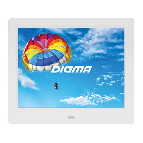 Фото - Цифровая фоторамка DIGMA PF-843 IPS, 8, белый [pf843w] фоторамка digma pf 1033