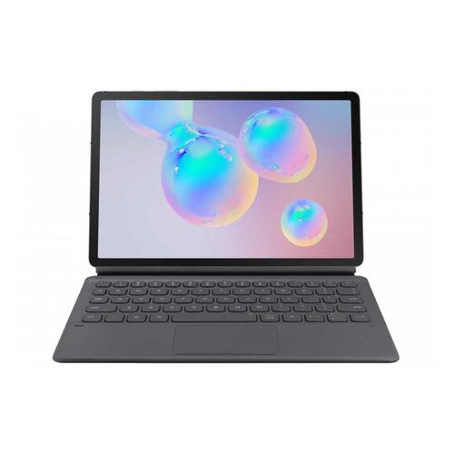 Чехол-клавиатура SAMSUNG EF-DT860BJRGRU, темно-серый, для Samsung Galaxy Tab S6