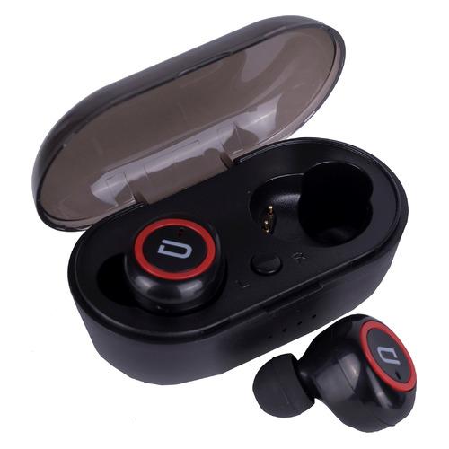 Наушники с микрофоном DENN TWS007, Bluetooth, вкладыши, черный