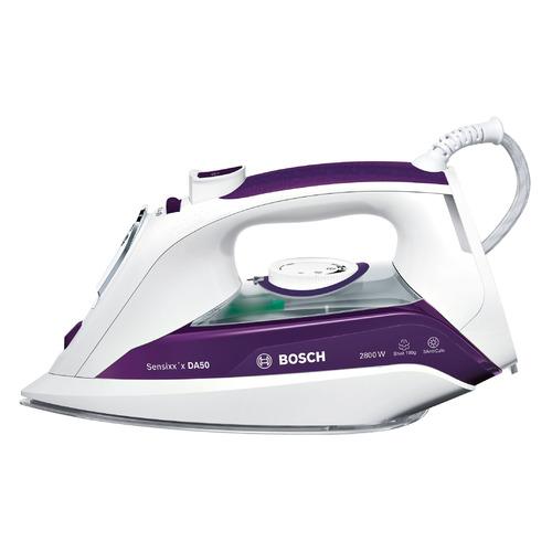 лучшая цена Утюг BOSCH TDA5028020, 2800Вт, белый/ фиолетовый