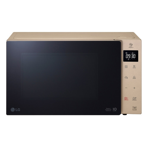 Микроволновая Печь LG MW25W35GISH 25л. 1000Вт бежевый/черный цена и фото