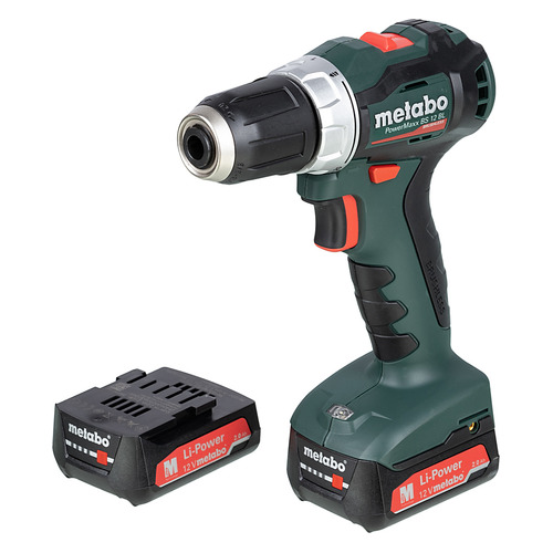 Дрель-шуруповерт METABO PowerMaxx BS 12 BL, 2Ач [601038500] metabo powermaxx bs 12 bl 601038500