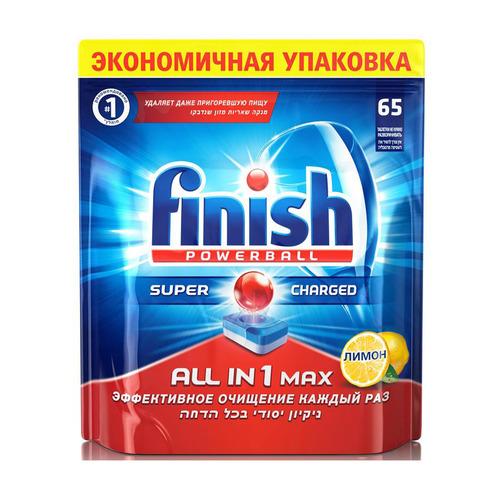 Таблетки Finish All in One Max (упак.:65шт) таблетки д пмм finish all in1 max лимон 65шт