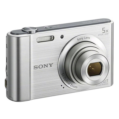Цифровой фотоаппарат SONY Cyber-shot DSC-W800, серебристый фотоаппарат sony cyber shot dsc w810 серебристый