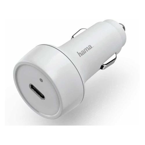 Автомобильное зарядное устройство HAMA H-183278, USB type-C, 3A, белый