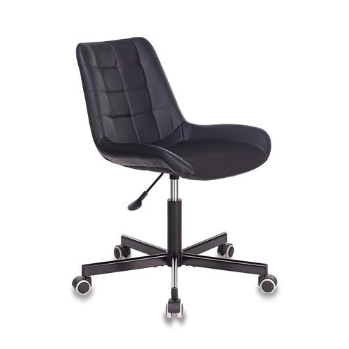 Кресло БЮРОКРАТ CH-350M, на колесиках, искусственная кожа/ткань, черный [ch-350m/black] кресло бюрократ ch 605 на колесиках искусственная кожа черный [ch 605 black]
