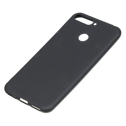 Чехол (клип-кейс) BORASCO для Huawei Honor 7A Pro/Y6 Prime (2018)/7C, черный (матовый) [34567]