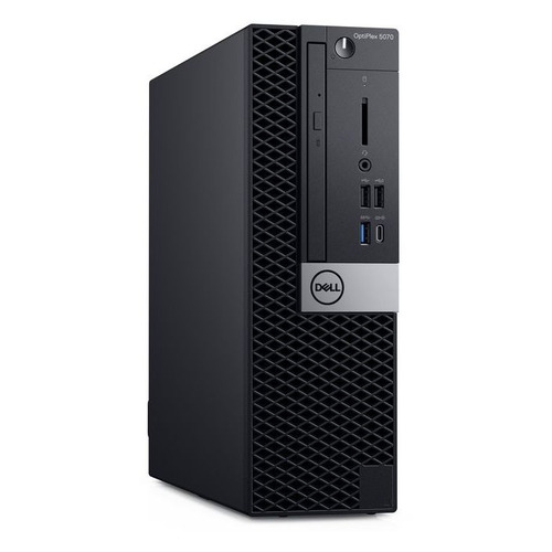 Компьютер DELL Optiplex 5070, Intel Core i5 9500, DDR4 8ГБ, 256ГБ(SSD), Intel UHD Graphics 630, DVD-RW, Windows 10 Professional, черный [5070-4807] рабочая станция lenovo thinkstation p330 tiny intel core i5 9500 ddr4 8гб 256гб ssd intel uhd graphics 630 windows 10 professional черный [30cf003fru]