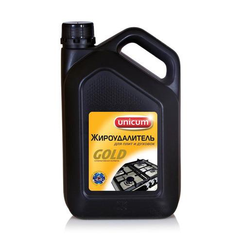 Моющее средство Unicum Gold Professional Жироудалитель 3000мл для удаления стойких/пригоревших жиров