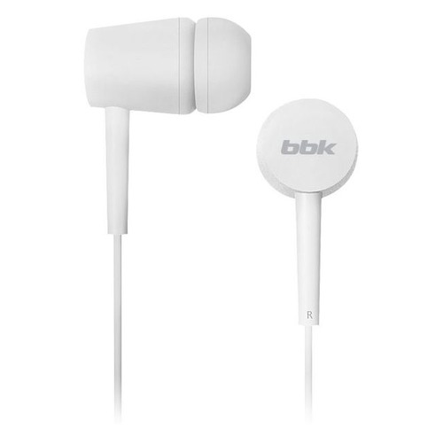 Наушники BBK EP-1002S, 3.5 мм, вкладыши, белый