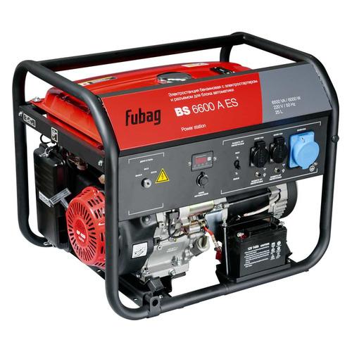 Бензиновый генератор FUBAG BS 6600 A ES, 230 [838798] бензиновый генератор fubag bs 6600 a es 6000 вт