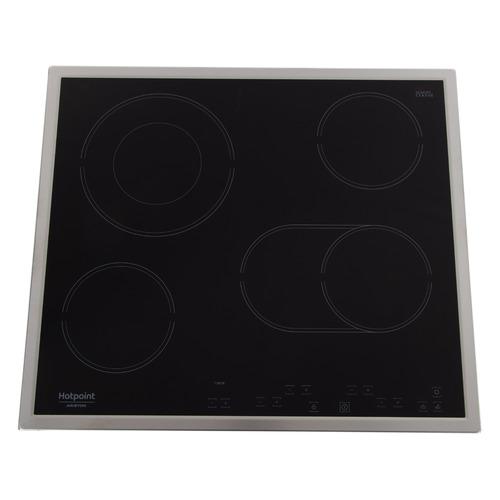 Варочная панель HOTPOINT-ARISTON HR 616 X, электрическая, независимая, черный варочная панель электрическая ariston kis 841 f b черный