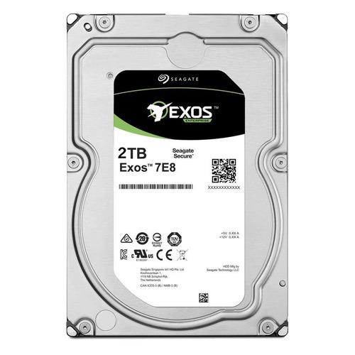 Жесткий диск SEAGATE Exos 7E8 ST2000NM001A, 2ТБ, HDD, SATA III, 3.5