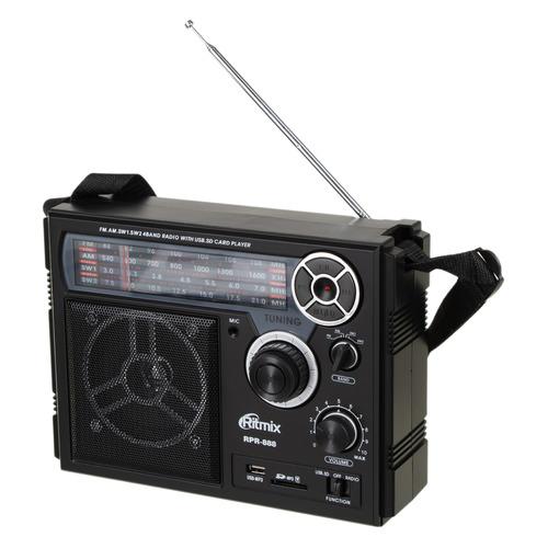 Радиоприемник RITMIX RPR-200, черный RITMIX