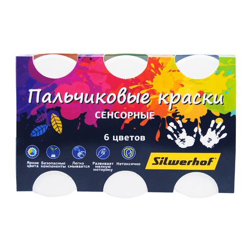 Краски SILWERHOF Цветландия Сенсорные 961138-06, 6 цветов, 60мл