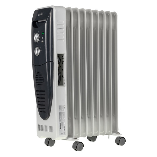 Масляный радиатор BALLU BOH/TB-09FH, 2000Вт, белый [boh/tb- 09fh 2000]