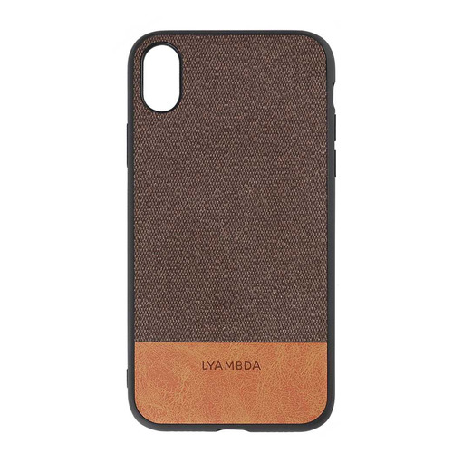 Чехол (клип-кейс) Lyambda Calypso, для Apple iPhone XS Max, коричневый [la03-cl-xsm-br] чехол клип кейс lyambda calypso для iphone xs max la03 cl xsm br brown