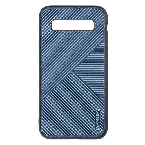 Чехол (клип-кейс) Lyambda Atlas, для Samsung Galaxy S10, голубой [la10-at-s10-bl]