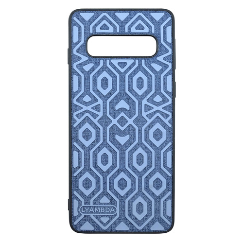 Чехол (клип-кейс) Lyambda Atlas, для Samsung Galaxy S10+, голубой [la10-at-s10p-bl]