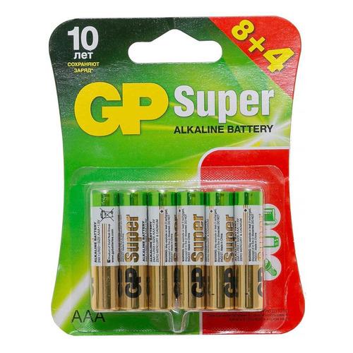 AAA Батарейка GP Super Alkaline 24A LR03, 12 шт. запчасти и аксессуары для радиоуправляемых игрушек diy 58 nvie 0 5 60158