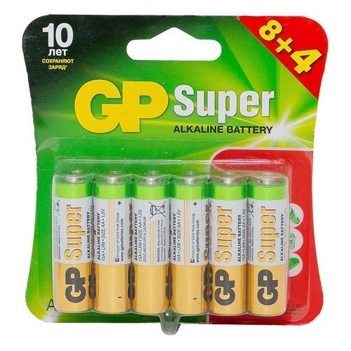 AA Батарейка GP Super Alkaline 15A LR6, 12 шт. запчасти и аксессуары для радиоуправляемых игрушек diy 58 nvie 0 5 60158