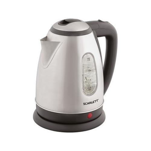 Чайник электрический SCARLETT SC-EK21S88, 2200Вт, черный и серебристый цена и фото