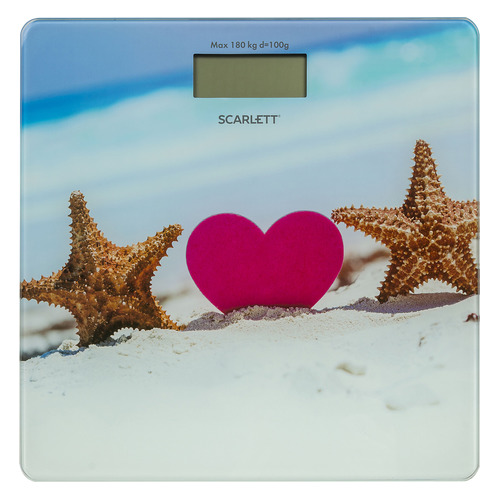 Напольные весы SCARLETT SC-BS33E076, до 180кг, цвет: рисунок