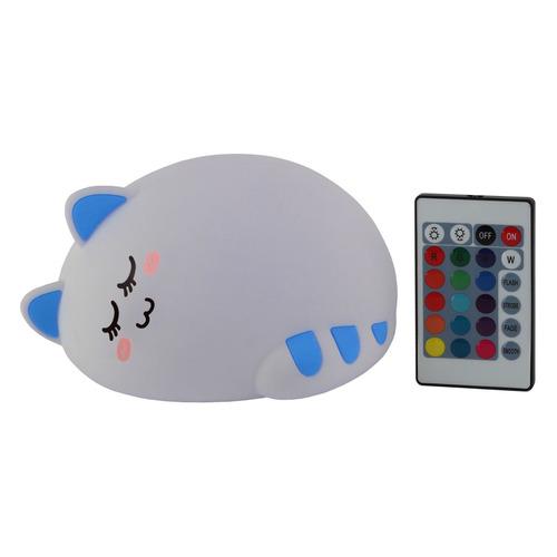 Ночник Эра NLED-415-2W-BU пластик/силикон белый/синий