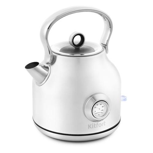 Чайник электрический KITFORT КТ-673-1, 2200Вт, белый чайник kitfort кт 673 1 белый