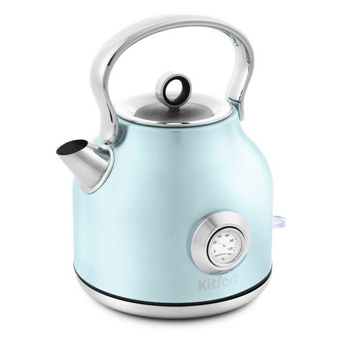 Чайник электрический KITFORT КТ-673-3, 2200Вт, голубой чайник kitfort кт 673 1 белый