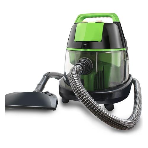 Моющий пылесос GINZZU VS731, 2100Вт, черный/зеленый philips пылесос fc8588 01 2100вт синий черный