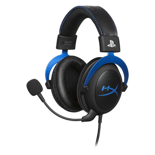 Наушники с микрофоном HyperX Cloud Blue черный/голубой (HX-HSCLS-BL/EM)