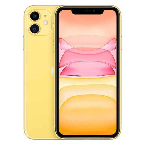 Смартфон APPLE iPhone 11 128Gb, MWM42RU/A, желтый