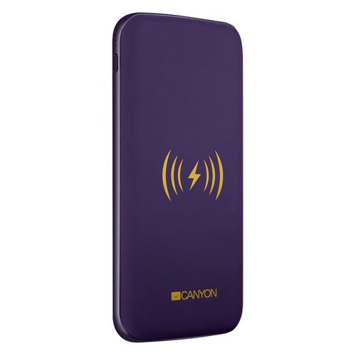 Внешний аккумулятор (Power Bank) CANYON CNS-TPBW8P, 8000мAч, фиолетовый [oscnstpbw8p]  - купить со скидкой