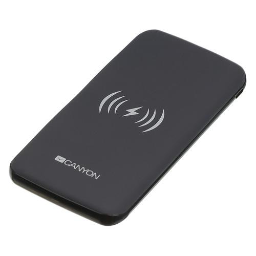 Внешний аккумулятор (Power Bank) CANYON CNS-TPBW8B, 8000мAч, черный [oscnstpbw8b]