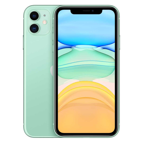 Смартфон APPLE iPhone 11 128Gb, MWM62RU/A, зеленый смартфон apple iphone 11 128gb зеленый mwm62ru a