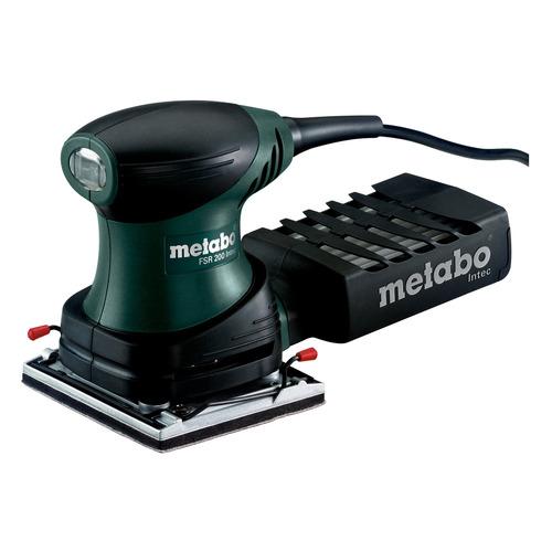 Плоскошлифовальная машина METABO FSR 200 Intec [600066500] эксцентриковая шлифовальная машина metabo sxe3125 [600443000] 310вт 125мм 3мм эл ка картон 12000 об мин вес 1 5 кг