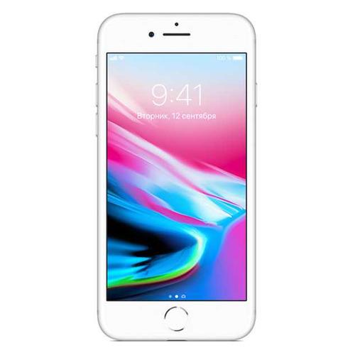 Смартфон APPLE iPhone 8 128Gb, MX172RU/A, серебристый подставка just mobile hoverdock st 368 для apple watch алюминий серебристый