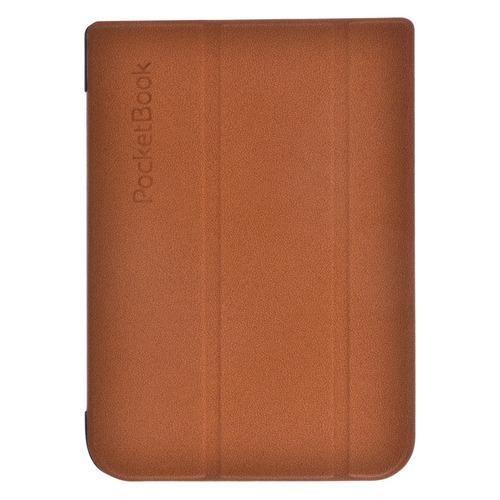 Обложка POCKETBOOK коричневый, PocketBook 740 vivacase smart чехол обложка для pocketbook 650 black vpb p6sm01 bl