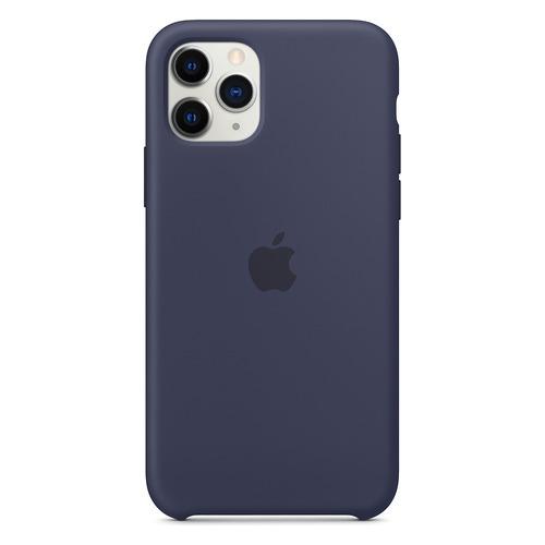 Чехол (клип-кейс) Apple Silicone Case, для Apple iPhone 11 Pro, темно-синий [mwyj2zm/a]