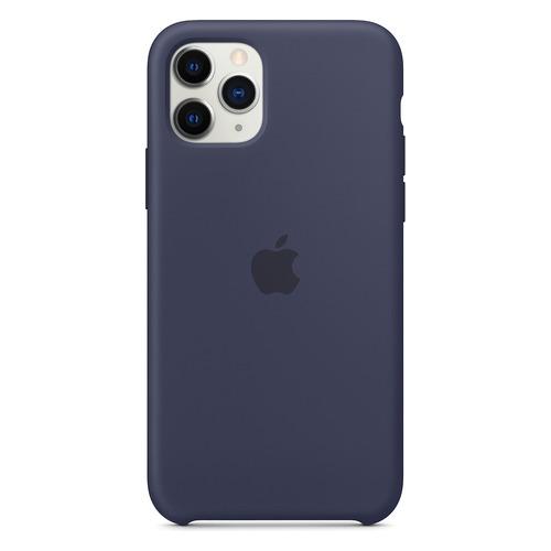 Чехол (клип-кейс) Apple Silicone Case, для Apple iPhone 11 Pro Max, темно-синий [mwyw2zm/a]