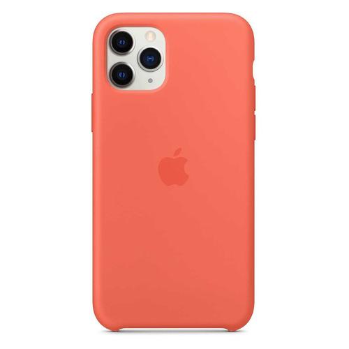 Чехол (клип-кейс) APPLE Silicone Case, для iPhone 11 Pro Max, оранжевый [mx022zm/a] аксессуар чехол innovation для apple iphone 11 pro max silicone case crimson 16445