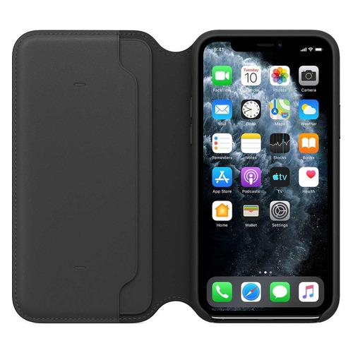 Чехол (флип-кейс) APPLE Leather Folio, для Apple iPhone 11 Pro, черный [mx062zm/a] чехол флип кейс apple leather folio для apple iphone 11 pro зеленый павлин [my1m2zm a]
