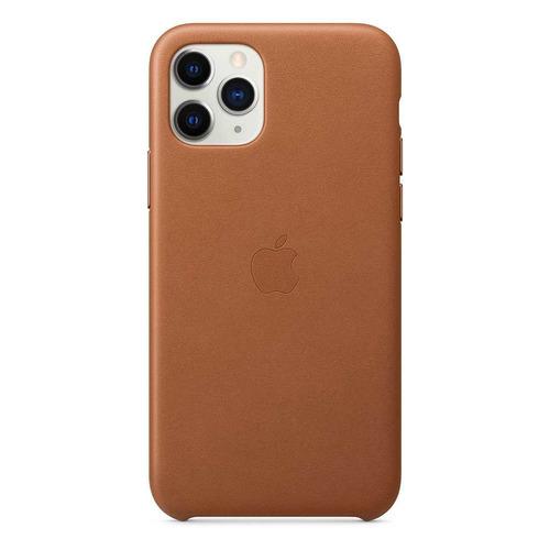 Чехол (клип-кейс) APPLE Leather Case, для iPhone 11 Pro Max, коричневый [mx0d2zm/a]