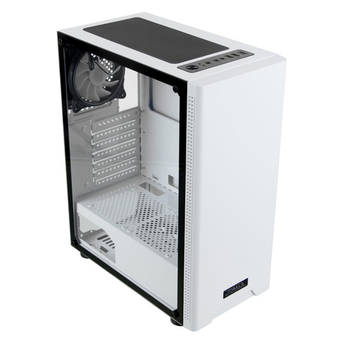 Корпус ATX FORMULA CL-3301W TG, Midi-Tower, без БП, белый