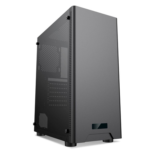 Корпус ATX FORMULA CL-3301B TG, Midi-Tower, без БП, черный корпус formula fm 608 черный 450wm atx