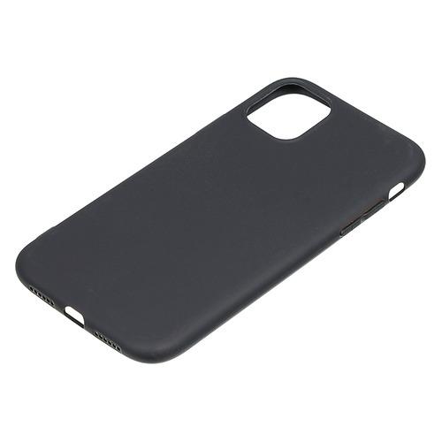 Чехол (клип-кейс) BORASCO Mate, для Apple iPhone 11, черный (матовый) [37569]