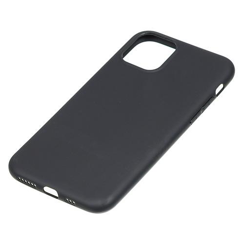 Чехол (клип-кейс) BORASCO Mate, для Apple iPhone 11 Pro, черный (матовый) [37567]